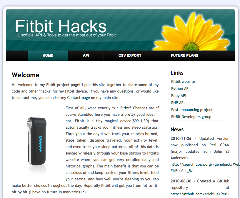 Fitbit – Perl API Hosted at GitHub – Eric Blue's Digital Home